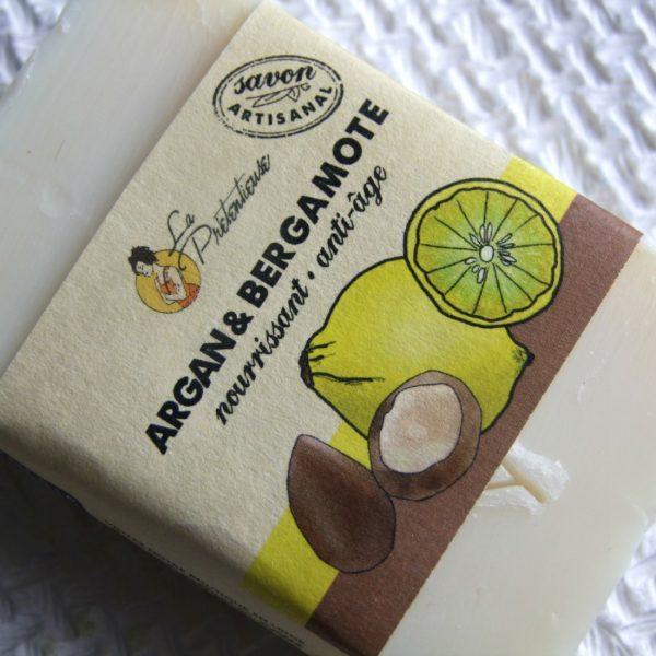 Argan and bergamote anti-aging face soap