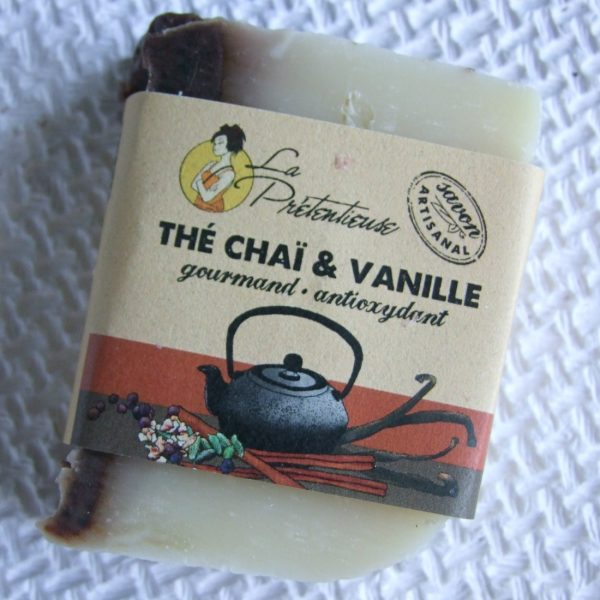 Chai tea and vanilla natural handmade soapbar