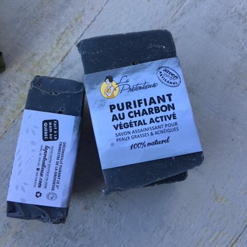 Savon au Charbon végétal activé - Peaux mixtes, grasses, acnéiques