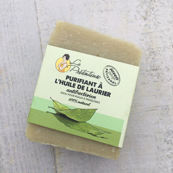 Bay leaves purifiing soap
