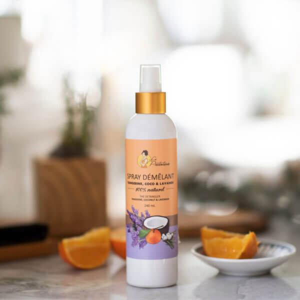 All natural untangling Tangerine coconut lavender spray - wonderfully efficient - little girls'mother salvation