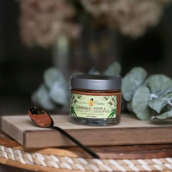 Gommage nettoyant Avoine & eucalyptus (à base de savon noir)